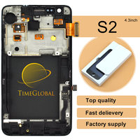 2PCS White Black LCD Display Touch Screen Digitizer Full Assembly Bezel Frame Replacement Parts For Samsung