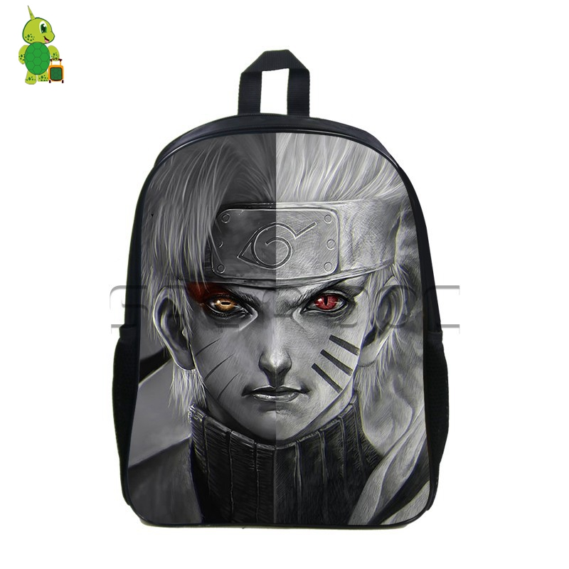 Anime Naruto Sage Nine-tails Split Backpack Students Bookbag Itachi Sasuke School Backpacks For Teenagers Boys Girls Daypacks