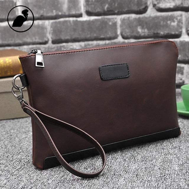 ETONWEAG Famous Brands Cow Leather Wallet Men Clutch Bags Brown Vintage Travel Organizer Wallets Business Style Phone Coin Purse 1