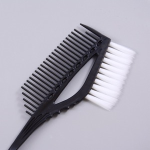 Image 2 - プロ黒プラスチック染毛剤カラーリングブラシくし理容サロンティント理髪スタイリングツール髪の色diy櫛とブラシ