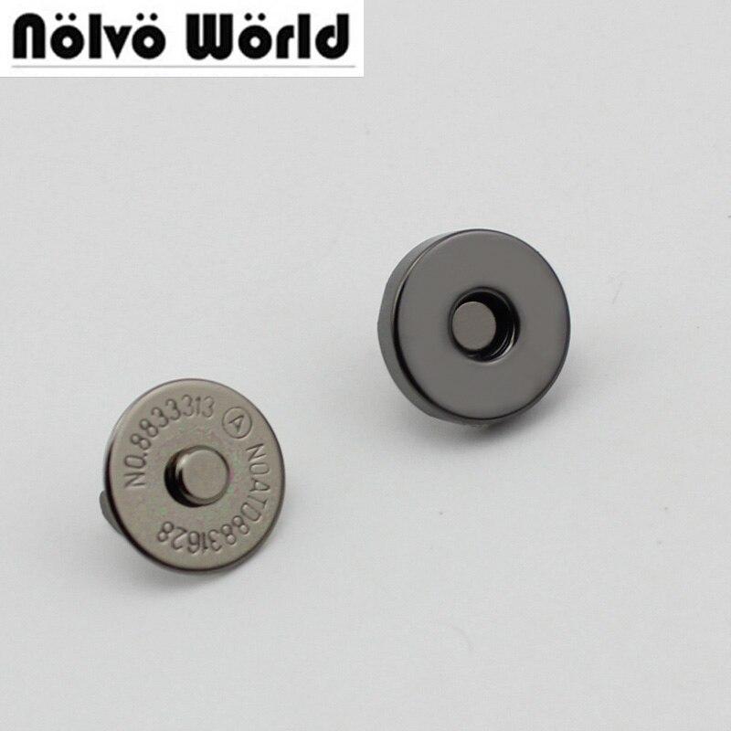 10pcs 30pcs 14*3mm Hung Plating Dish Shape Magnetic Snap Button Clasp Fastener For Handbag Purse Wallet Wholesale