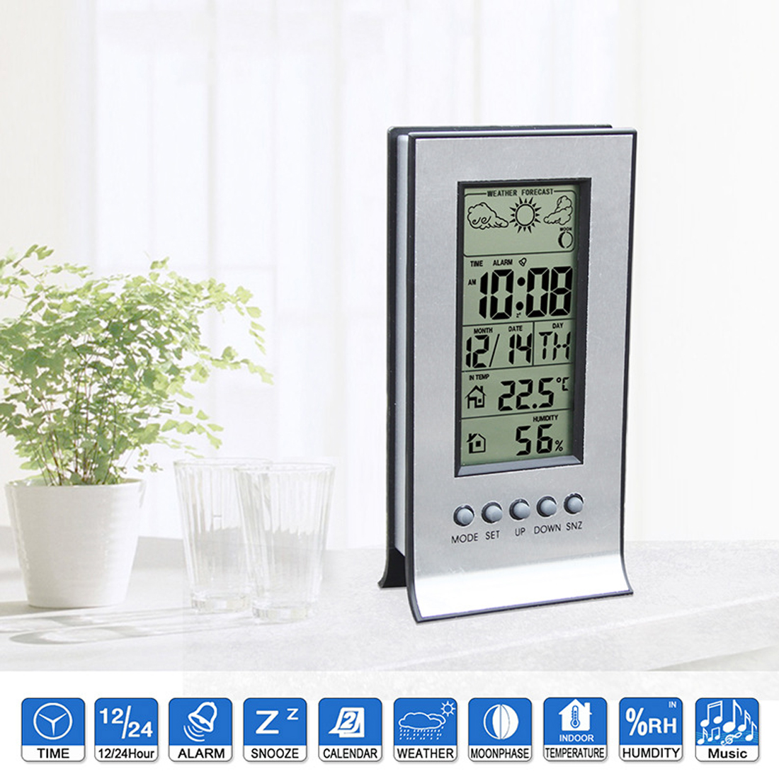 wireless weather station with wireless sensors meteo. Black Bedroom Furniture Sets. Home Design Ideas