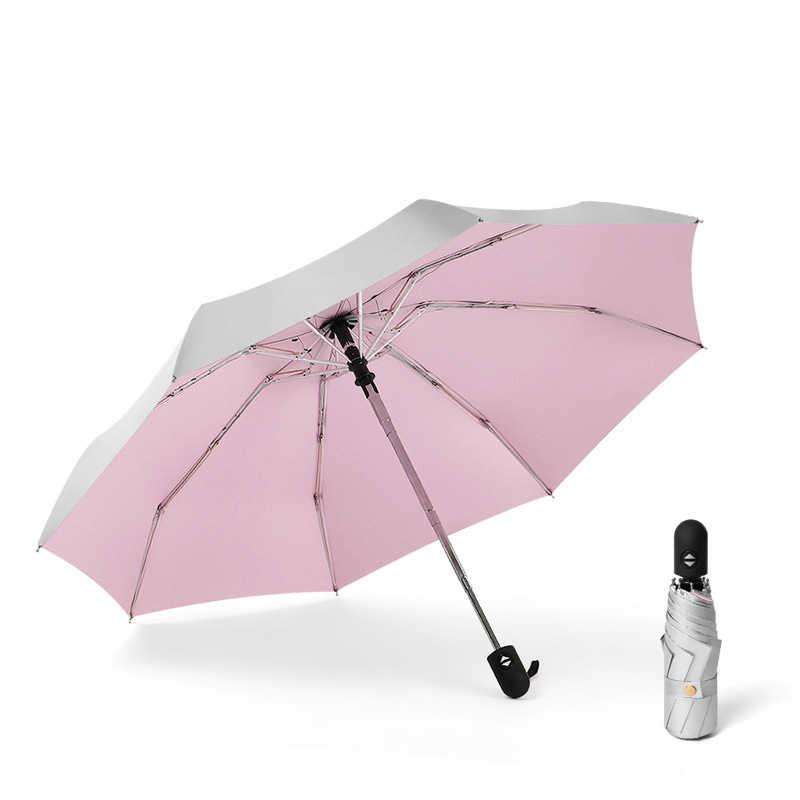 אוטומטי מיני כיס מטרייה נשי אנטי UV שמש חמישה מתקפל מטריות גשם נשים שמשייה 8 K Windproof נסיעות sombrilla playa
