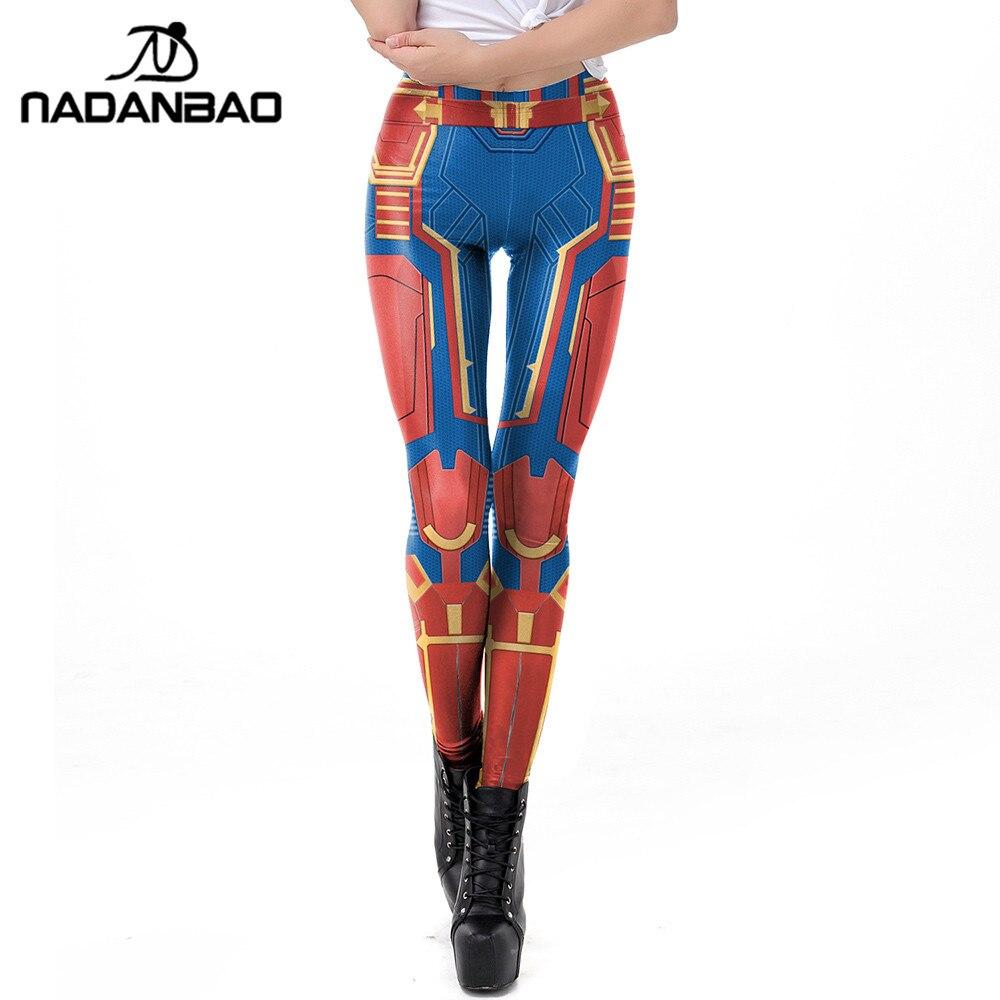 NADANBAO Carol Danvers Leggings Women 3D Super Hero Printed Captain  Legging Workout Fitness Legins Plus Size