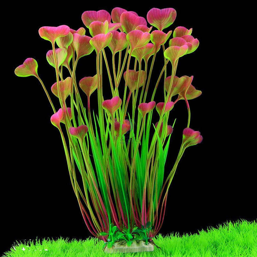 Beautiful Artificial Aquarium Plants Decoration Fish Tank Simulation Water Plant Grass Ornament Plastic Habitat Decor 3 Colors