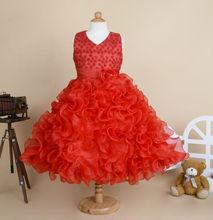 Розничная новое поступление детские дети девочек платья без рукавов летней девушки ну вечеринку платье дети ну вечеринку платье 90 — 100 — 110 — 120 — 130 — 140 — 150