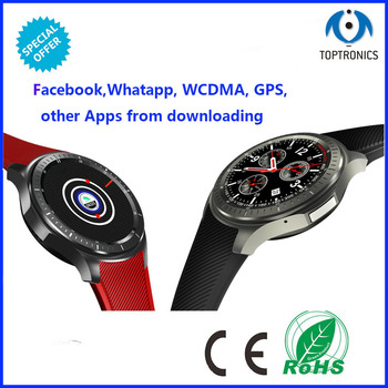 best selling Android 5.1 Bluetooth 4.0 Smart Watch Phone smart clock Support SIM Card Wifi GPS Pedometer heart rate monitoring