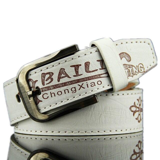 Дизайнерский винтажный женский ремень с буквенным принтом в стиле панк, с металлической пряжкой, базовые белые ремни, роскошные Брендовые женские классические уличные ремни