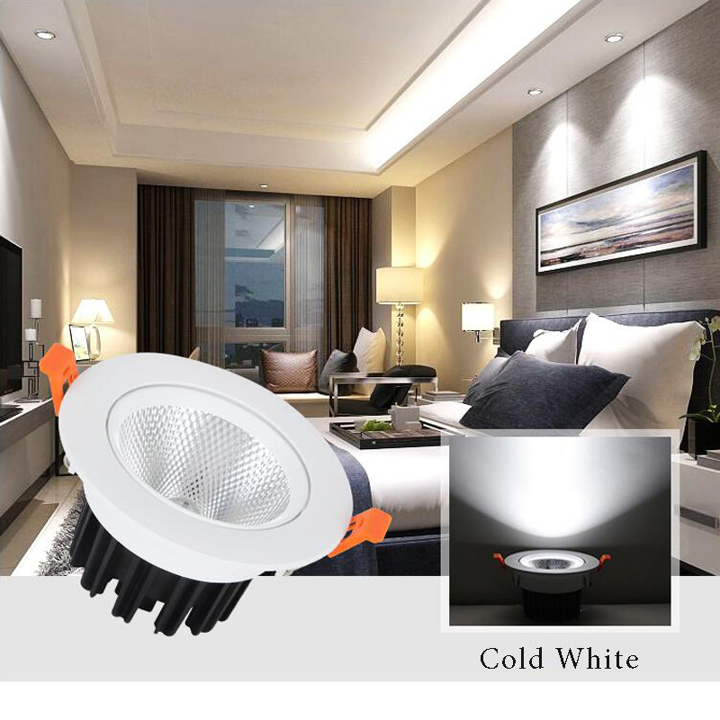 Manufacturers wholesale COB day lights spotlights die-cast led downlight mall living room office lighting 5W project spotlights