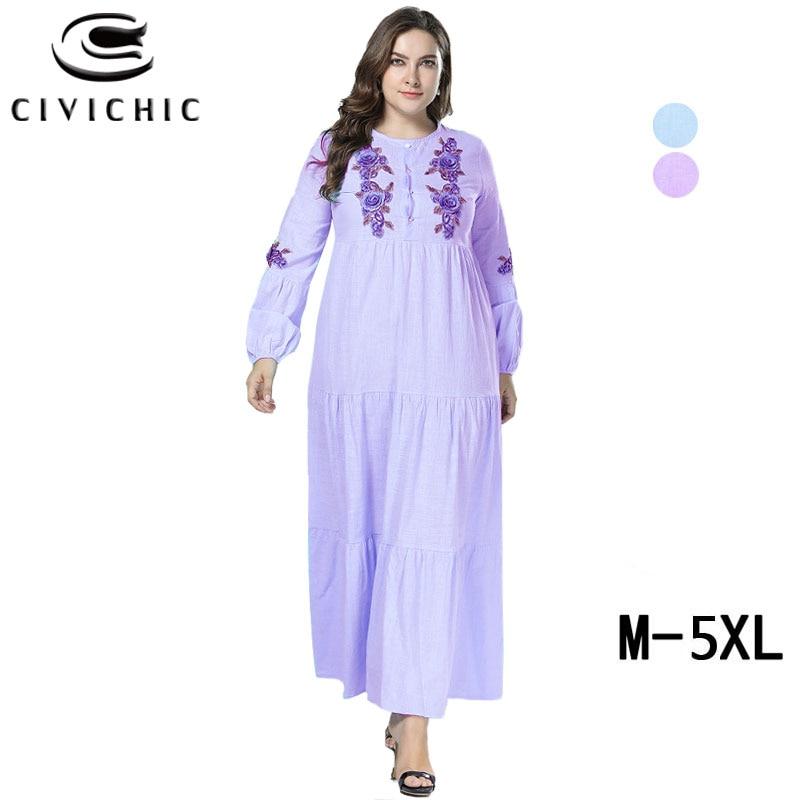 f51450b9e4 Parti Automne Le Maxi Taille Robes Femme Bas La Vers Ethnique Blue Robe  Chic Bouton Civi Jurk Floral ...