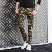 2017 Primavera Outono de Algodão Camuflagem Cáqui Calça Homens Dos Homens Multi-bolsos Calças de Boa Qualidade