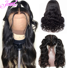 Body Wave Human Hair Wigs With Baby Pre Plucked Brazilian 13*4  Lace front For Black Women Remy