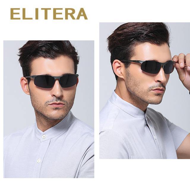 ELITERA Aluminum Magnesium Polarized Sunglasses Men Driver Mirror Sun glasses Male Fishing Female Outdoor Sports Eyewear For Men