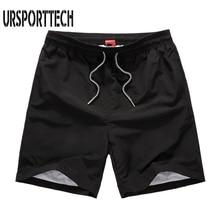 Summer Beach Shorts Men Waterproof Quick Drying Solid Color Board Shorts Men's Loose Pocket Short Male Boardshort Plus Size 4XL volcom men s lido solid boardshort