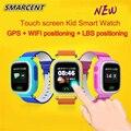 Crianças originais GPS tracker Q90 Touch Screen WIFI Bebê Inteligente Telefone Do relógio Monitor de Chamada SOS Posicionamento Localização Anti Perdido PKQ80 Q50