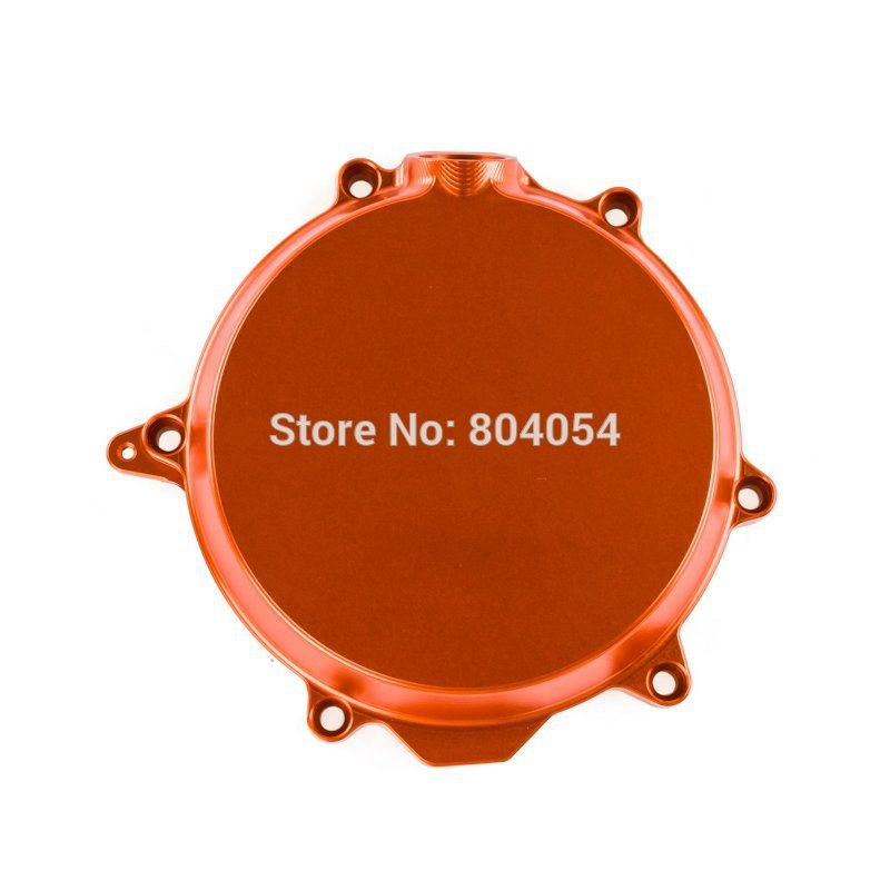 CNC Billet Engine Clutch Cover Outside For KTM 250 XC-F 2008 2009 2010 2011 2012 Orange aluminum alloy radiator for ktm 250 sxf sx f 2007 2012 2008 2009 2010 2011