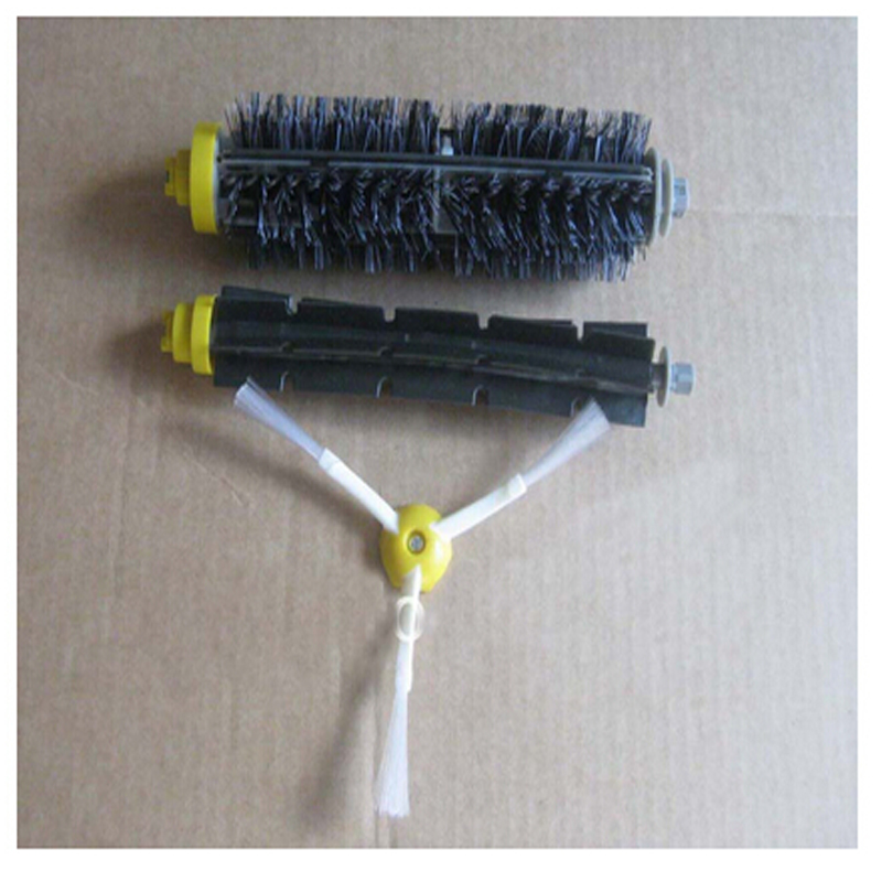 1 Bristle brush +1 Flexible Beater Brush +1Side Brush for iRobot Roomba 600 700 Series Vacuum Cleaning Robots 760 770 780 790 flexible beater brush bristle brush for irobot roomba 500 600 700 series 550 630 650 660 760 770 780 790 vacuum cleaner parts