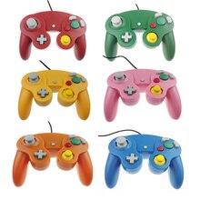 Mando con cable y número de seguimiento para N G C, Joystick con un botón para Game Cube para w i i