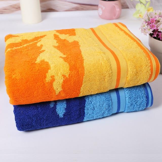 Sell Well High Quality Cotton Towel Leaf Pattern Printing Bath Towel