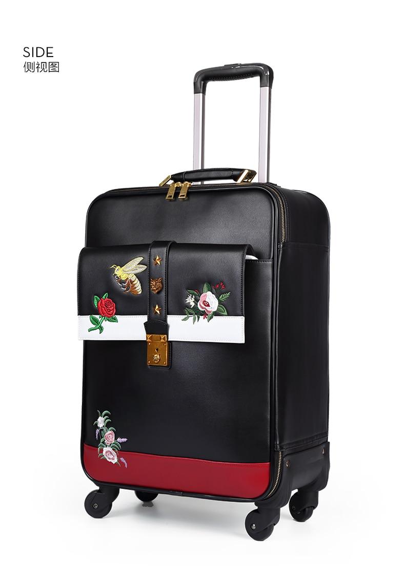 Carrylove 패션 수하물 시리즈 16/20/24 inch 크기 고품질 자수 purolling 수하물 회 전자 브랜드 여행 가방-에서롤링 짐부터 수화물 & 가방 의  그룹 2