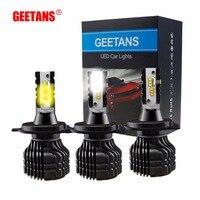 GEETANS H7 H4 Auto Led 12V Light Dual Color 2PCS 9005 9006 H11 Car Driving Fog