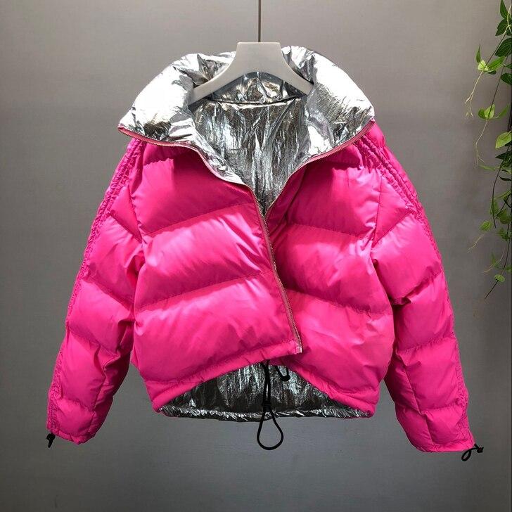 Новый осень-зима мода два носить студентов стеганые куртки Цвет блок женский хлеб пальто свободные хлопок-ватник