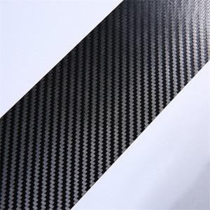Image 5 - 4 PCS 60x6.7 cm מדבקות לרכב אוניברסלי אדן שפשוף שריטה אנטי סיבי פחמן אוטומטי דלת מדבקת מדבקות לרכב אבזרים