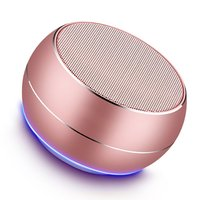 A9 wireless bluetooth speaker metal mini portable subwoof sound with Mic TF card FM radio AUX MP3 music play loudspeake