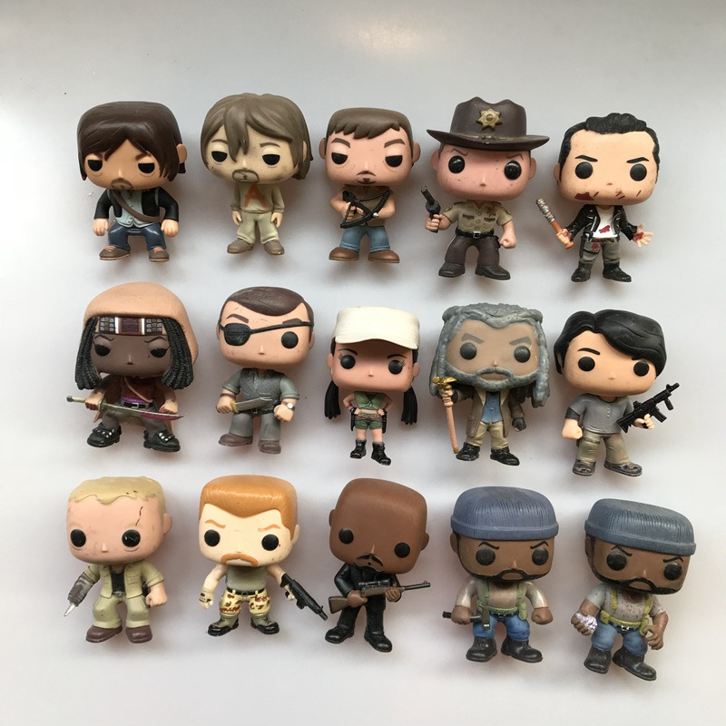 Original Funko Pop Used Walking Dead Tyreese, Rosita, Daryl, Michonne, Rick, Negan Vinyl Action Figure Collectible Model Toy