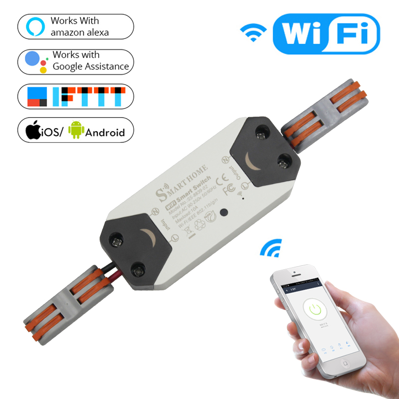 b155054409d DIY WiFi Smart Light Switch Universal Breaker Timer Wireless Remote Control  Works with Alexa Google Home Smart Home 1 Piece