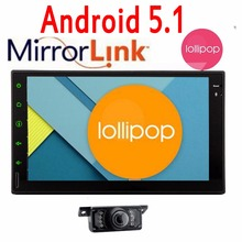 3G 4G doble 2 Din Android 5.1 autoradio del coche reproductor de DVD navegación GPS en el tablero 2 Din Coche vídeo estéreo Navi del GPS + WiFi + Cámara