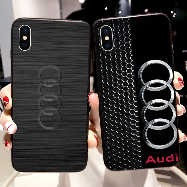 wholesale dealer 32523 59e00 US $1.94 35% OFF|For iPhone X Case Audi Soft Silicone Case for iPhone X XR  XS Max 5 5S SE 6 6S 7 8 Plus Cover Phone Fundas Capinha-in Half-wrapped ...