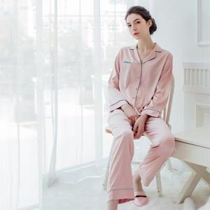 7 VEILS Women Satin Sleepwear Home Wear pajama Sets Pants 61ac1d106