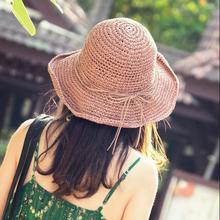 5179b7cbfa6 2018 Summer New Women Bucket Hat Travling Cap Fishing Hat Classical Belts Sun  Hats Hiking Cap