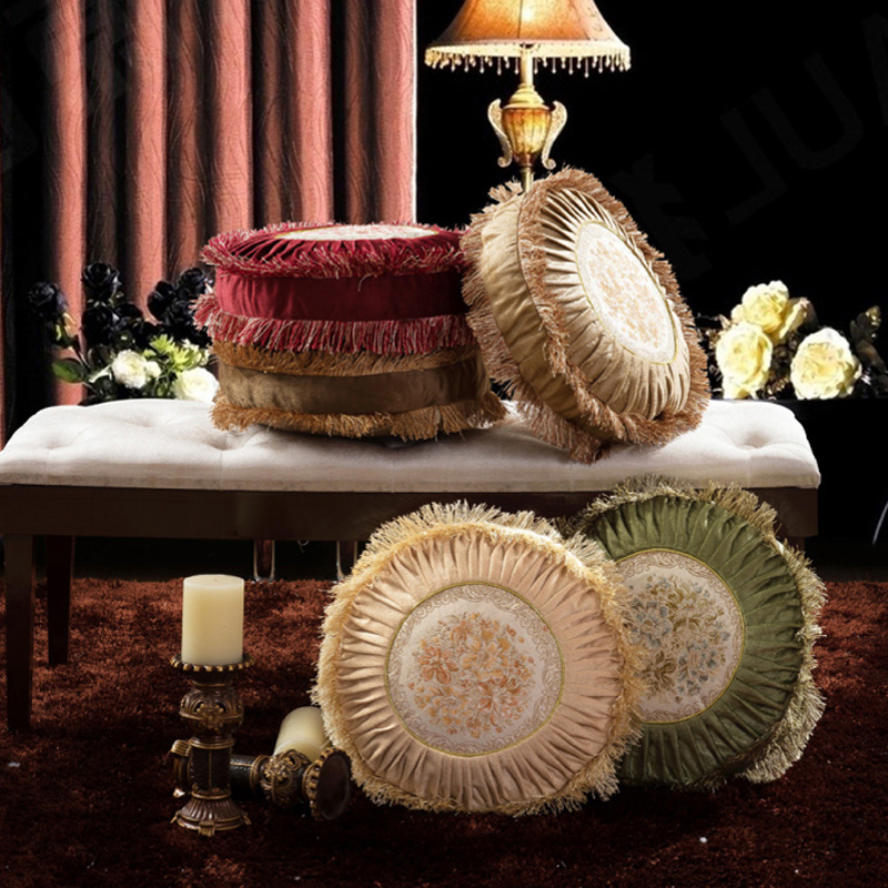 Free Shipping 1 pcs 40cm European embroidery Cushion Cover And Pillow Case For Office Chair Back Cushion Sofa Throw Pillow TSU02