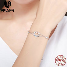 Chain-Bracelets Jewelry Women Real 100%925-Sterling-Silver Heart for Authentic Christmas-Gift/ecb022