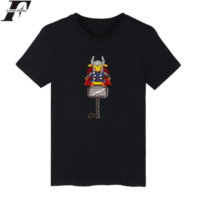 a18dd42d25cc LUCKYFRIDAYF Anime Pocket Monster Pikachu T-shirt Men Funny Short Sleeve  TShirt and Pokemon Go Kids T Shirt Boy Brand Tee Shirts