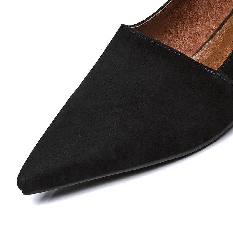 brown Chaussures Printemps Véritable En Pleine Bureau Chaussure Lisa Appartements Sur À Cuir Talons Bateau Black Bas Femmes Orcha Noir Slip Zapatos Dames Peu Profonde gYwqv5nxq