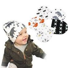 Sombrero bebé recién nacido Beanie Oso Polar tiburón Fox murciélagos Tigre  Bonnet impreso niño infantil kids d1856ffc5b0