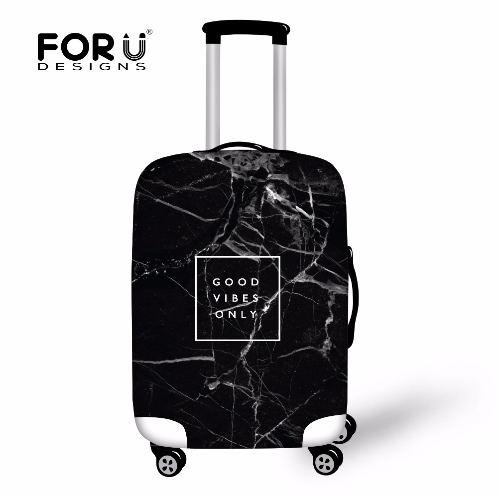 FORUDESIGNS Fashion Printing Luggage Protective Cover Travel Suitcase,Dust zipper Cover Elastic Waterproof Accessories Covers