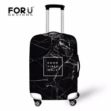 FORUDESIGNS Fashion Printing Luggage Protective Cover Travel Suitcase,Dust zipper Cover Elastic Waterproof Accessories Covers недорого