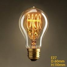 A19 110 V/220 в старинном стиле Эдисон ламп накаливания 1900s старинный декоративный крытый светильник лампы E27 edison светильник лампочка