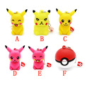 HOT! Pen drive cartoon cute Pikachu pokemon pendrive 32gb 16gb 8gb 4gb usb flash drive memory stick poke ball U disk gift