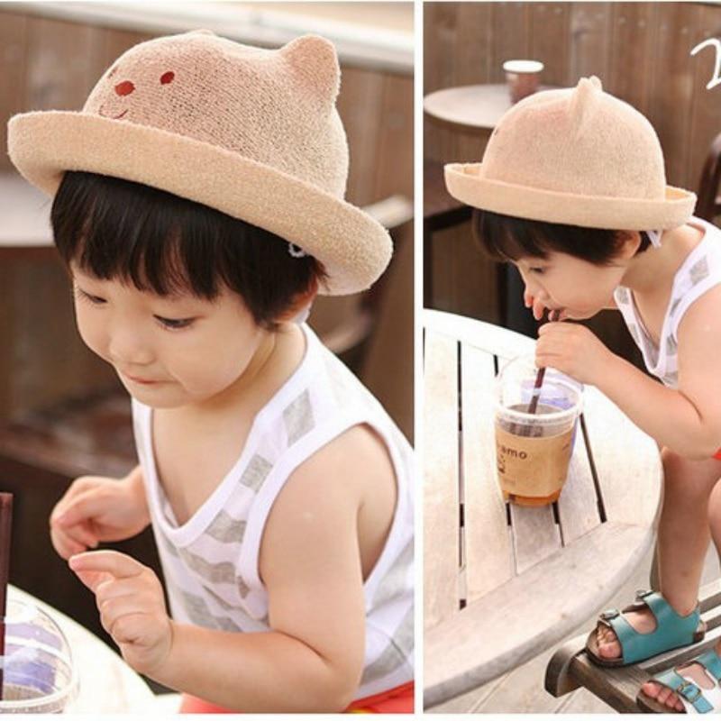 2018 New Kids Straw Hats Summer Hat Children Beach Sun Hat