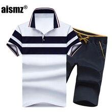 756223126523 Aismz Лето Повседневное футболка-поло спортивный костюм Для мужчин модные  короткий рукав рубашки поло +