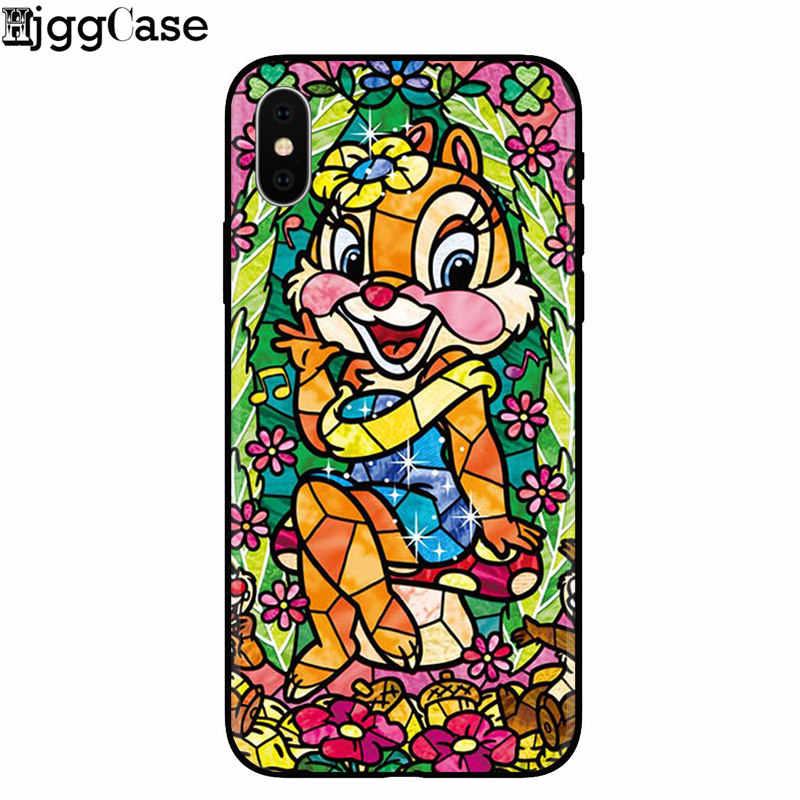 Alice Sereia dos desenhos animados Mickey Minnie TPU Luxo Caixa Do Telefone de Borracha para o iphone 8 7 6 6 s Plus X 5 5S SE XS XR XS MAX Coque Capa Da Pele