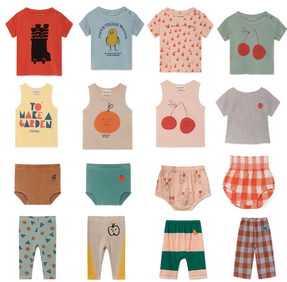 37864506f23c2 US $9.98 8% OFF Bobo Choses 2019 New Summer Animal Newborn Baby Tees Sets  Girls T shirts+ Pants Boys Clothing Sets Cotton Tops Kids Suit -in Clothing  ...
