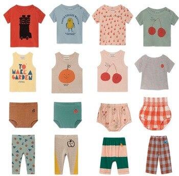 8dda8dcd8 Bobo elige 2019 nuevo verano Animal bebé recién nacido camisetas conjuntos  niñas T-camisas + Pantalones niños conjuntos de ropa de algodón tops traje  de ...