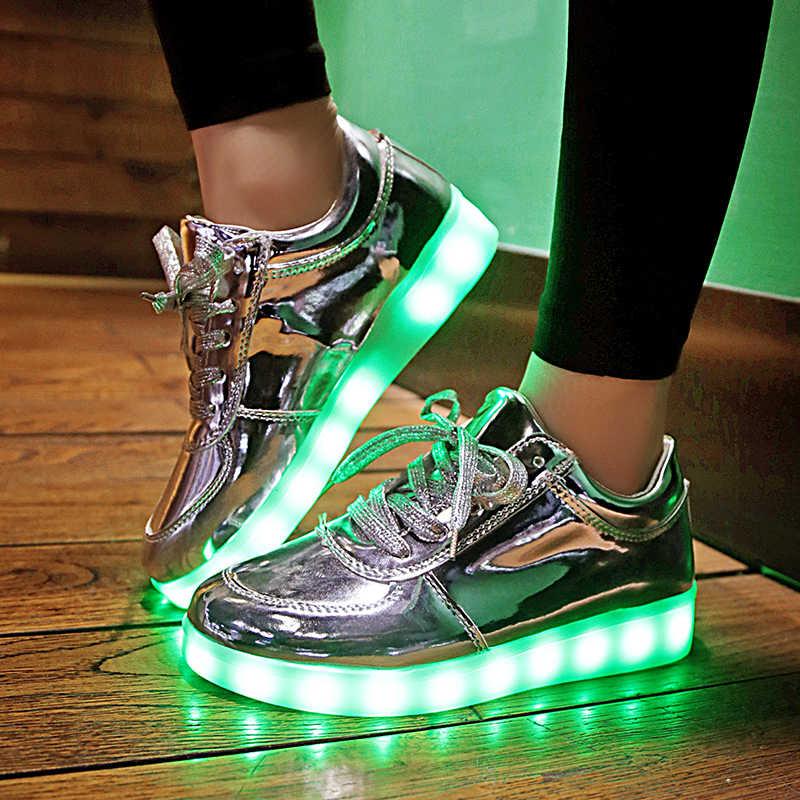 KRIATIV Usb Charging shoes led Slippers do with Lights Up Led shoes infant Kids light up shoes Basket Luminous Sneakers