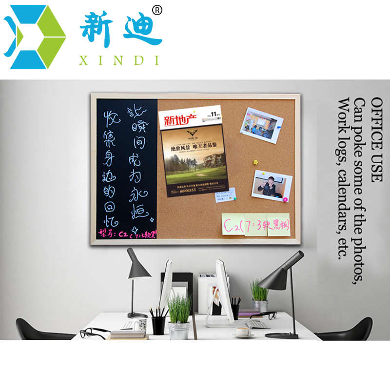 New 30*40cm Bulletin Board Blackboard Cork Board Combination 1:3 Wooden Frame Message Board Home Photos Write Notes Chalkboard 3